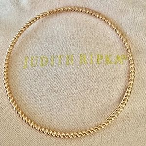 Judith Ripka 14k Rose Gold Rope Twist Bangle